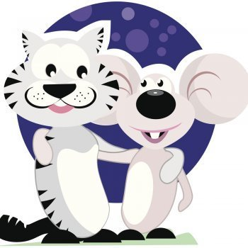 El gato y el ratón. Fábula para niños
