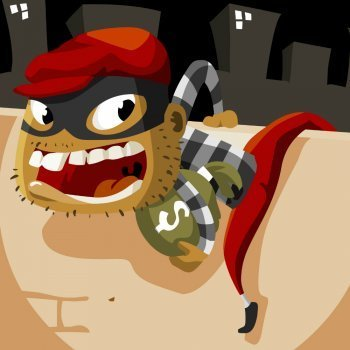 Los ladrones y el asno