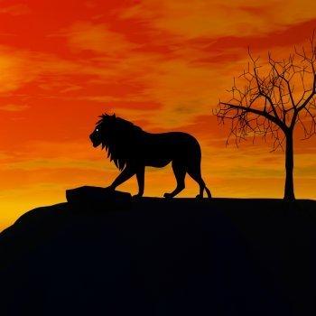 El león enfermo y los zorros