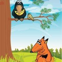 El cuervo y el zorro. Fábulas de La Fontaine