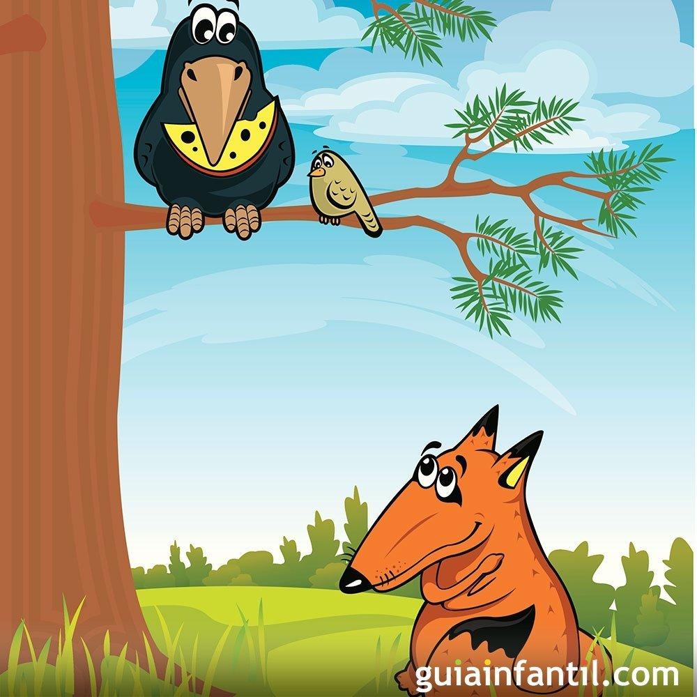 El Cuervo Y El Zorro Fábulas De La Fontaine