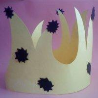 Corona de rey o reina para fiestas infantiles. Manualidades para niños
