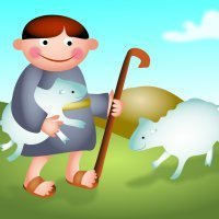 El zagal y las ovejas. Fábulas de Samaniego