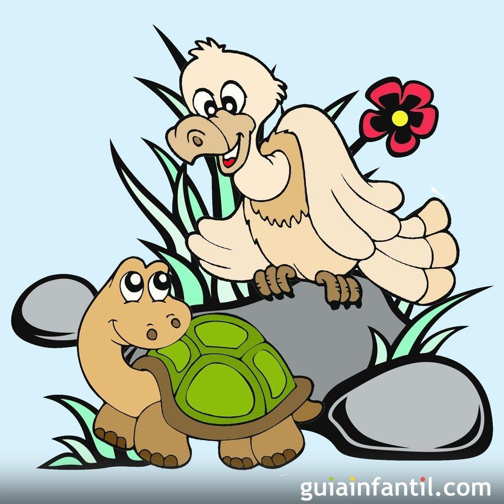 La tortuga y el águila. Fábulas de Samaniego