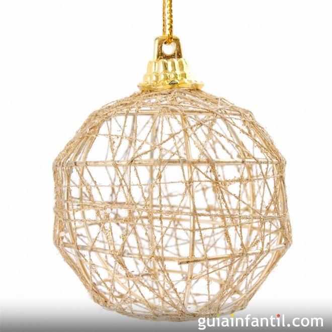 Manualidades para navidad bolas de cuerda - Bolas de navidad ...
