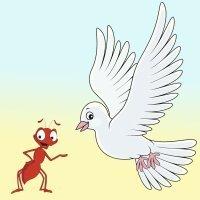 Fábulas para niños. La paloma y la hormiga