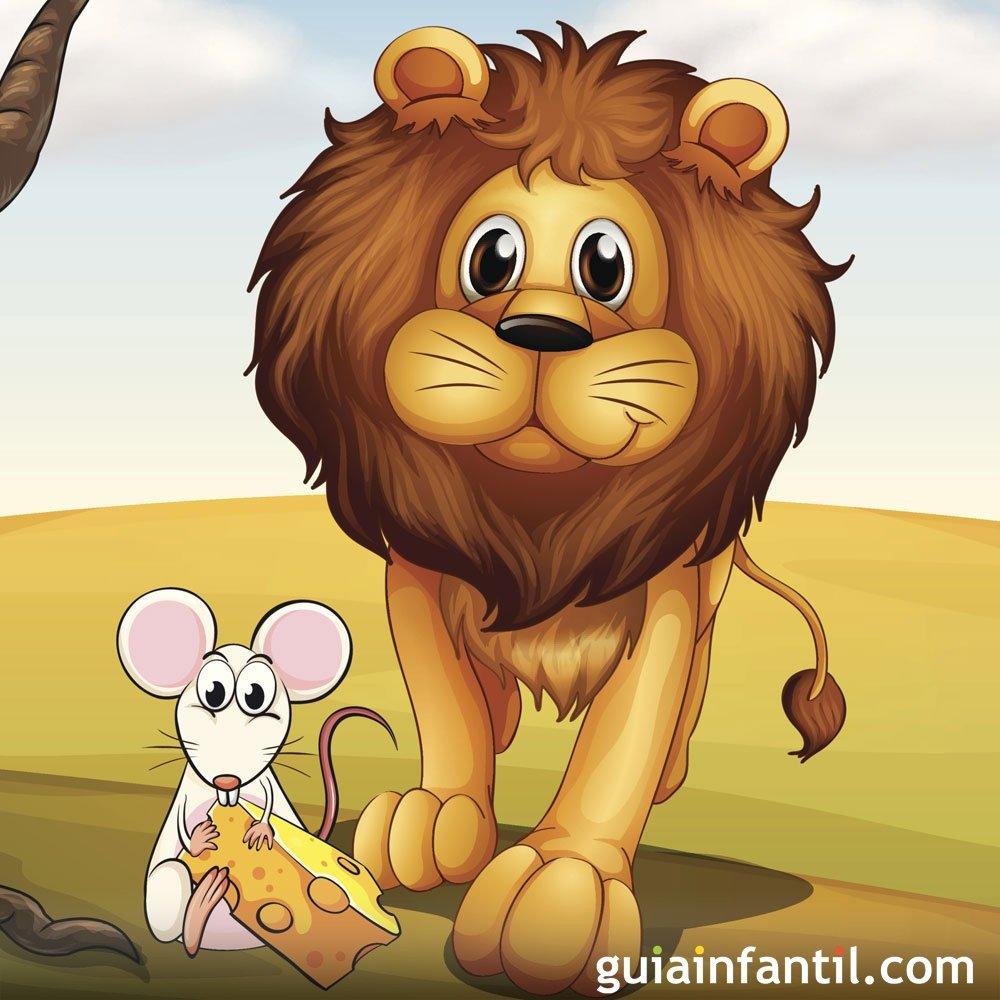Fábulas para niños. El león y el ratón
