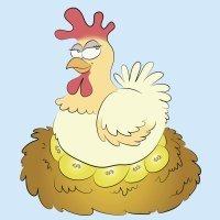 Fábulas infantiles. La gallina de los huevos de oro