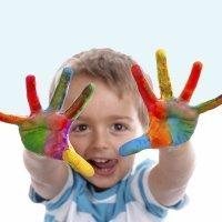 La pintura dactilar o pintura con los dedos