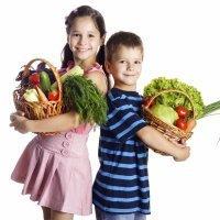 Dieta vegetariana para niños