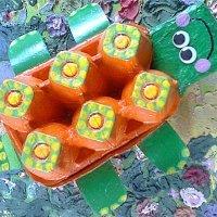 Tortuga de cartón. Manualidad infantil de reciclaje