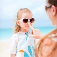 La alergia al sol en los niños