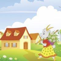 Cuentos para niños. La mamá cabra y los siete cabritillos