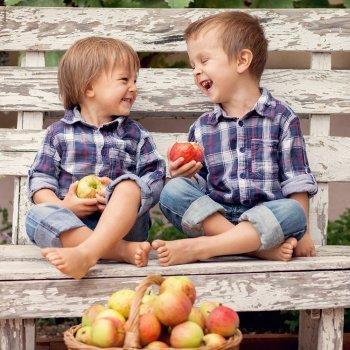 Alimentación de otoño para los niños