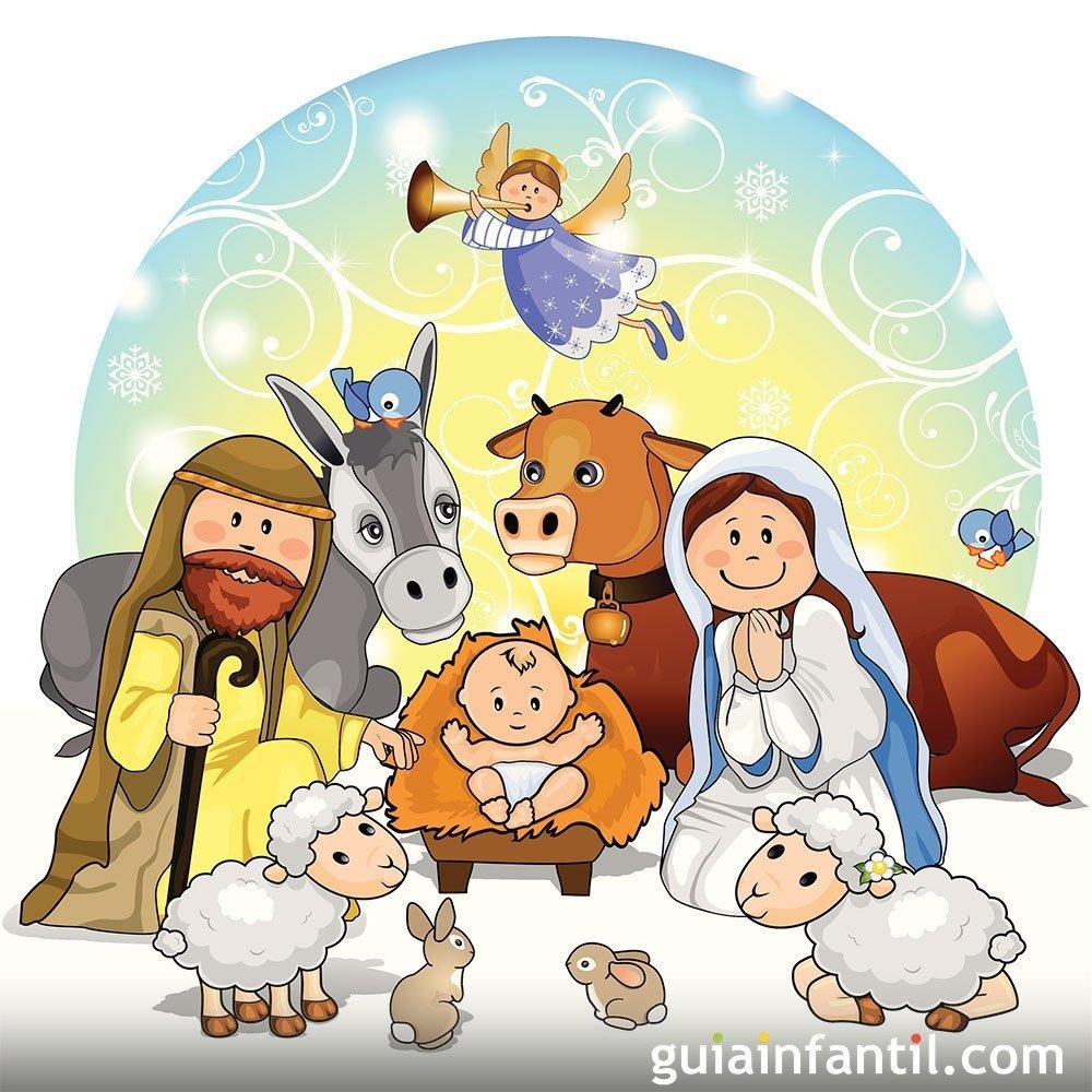 Nacimiento del ni o jes s cuento de navidad for Decoracion navidena con ninos