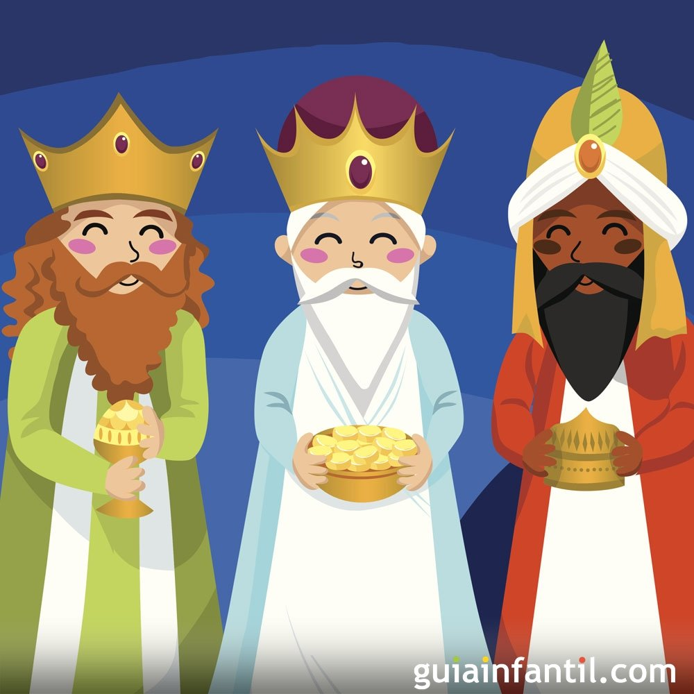 Imagenes Tres Reyes Magos Gratis.Sus Majestades Los Reyes Magos Del Oriente Cuento Navideno