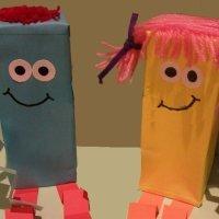 Muñecos con cajas. Manualidades para niños
