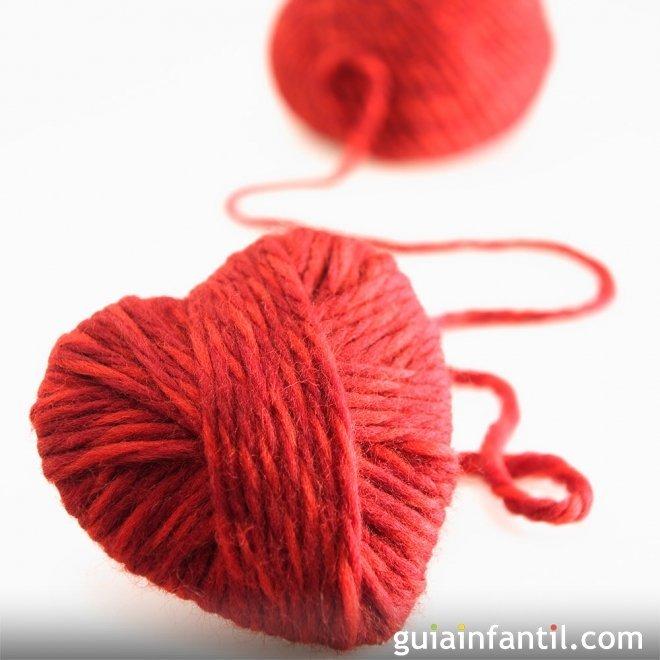 Coraz n de lana manualidades para ni os - Manualidades en lana ...