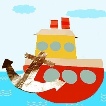 Barco pesquero. Manualidades para niños