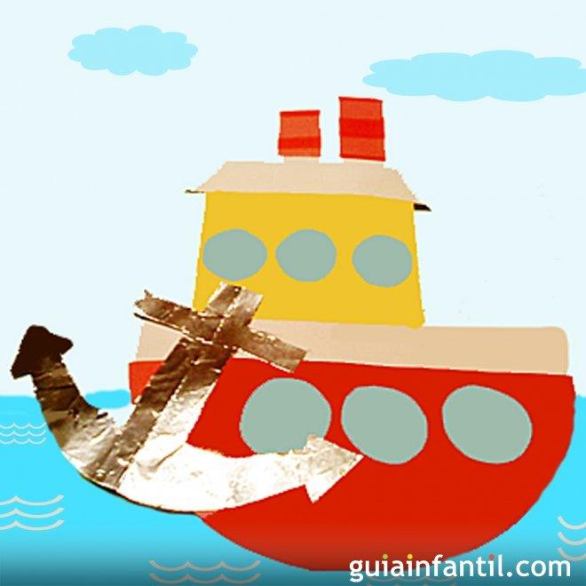 Barco Pesquero Manualidades Para Niños