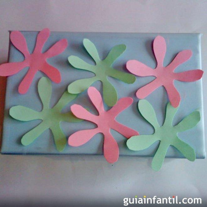 Caja Decorada Con Flores Manualidades Para Ninos