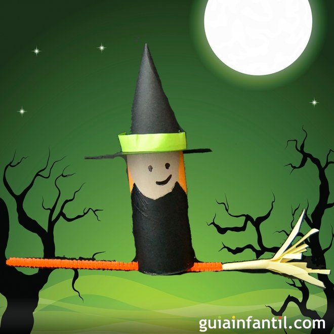 Manualidades Halloween Ninos.Bruja De Halloween Manualidades De Reciclaje Para Ninos