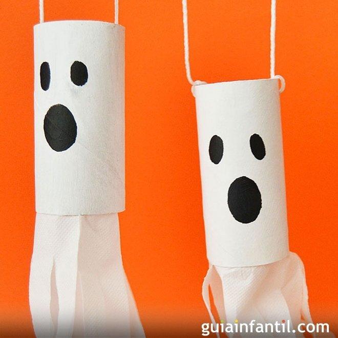 Fantasmas de halloween manualidades de cart n para ni os - Adornos de halloween para hacer en casa ...