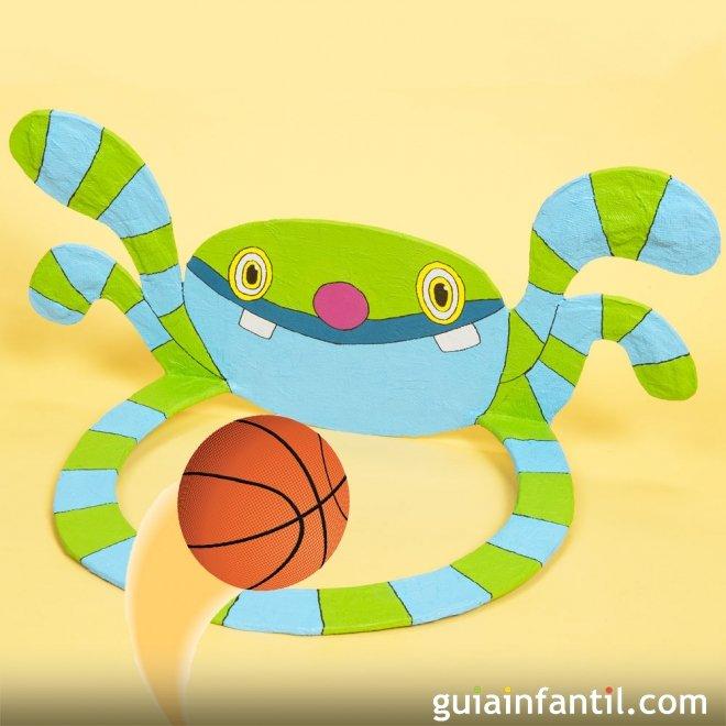 Canasta Monstruo De Baloncesto Manualidades Infantiles De Carton