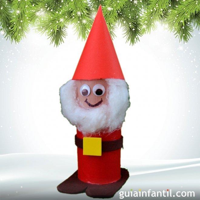 Papa Noel De Carton Manualidades De Navidad Para Ninos - Manualidades-de-navidad-para-nios-de-preescolar