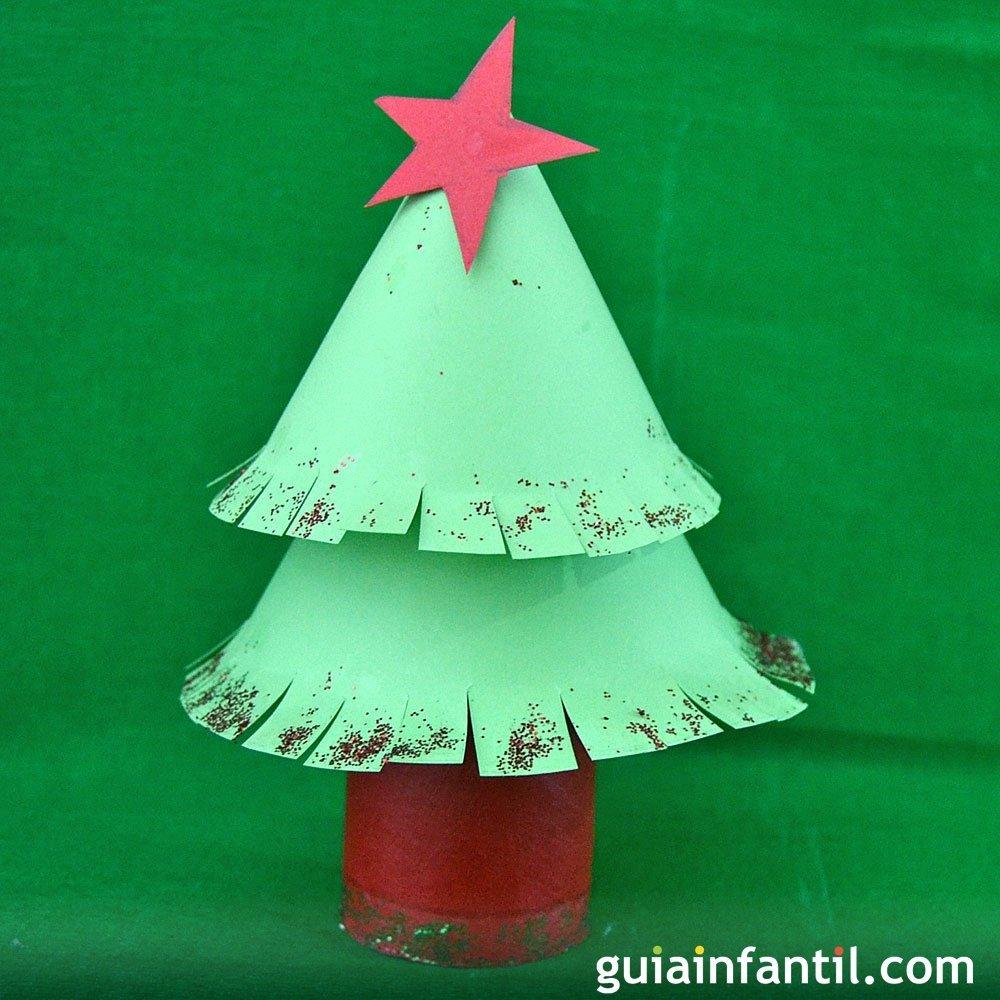 Manualidades Navidenas Para Ninos De Tres Anos.Arbol De Navidad De Carton Manualidades De Reciclaje Para Ninos