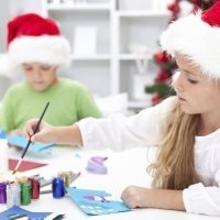 Manualidades de Navidad para niños con rollos de papel