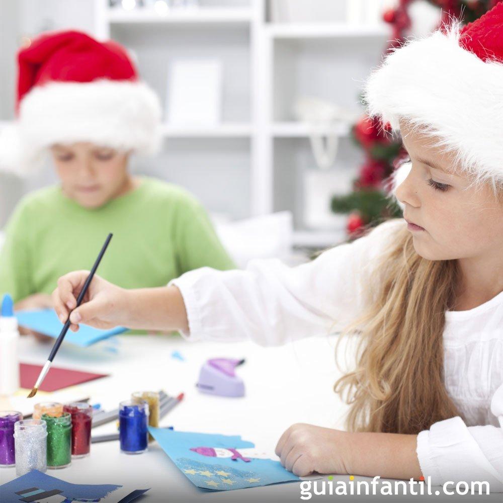 Manualidades de navidad para ni os con rollos de papel Adornos navidad infantil