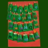 Cómo hacer un Calendario de Adviento con material de reciclaje