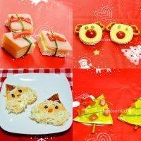 Vídeos de recetas de canapés variados de Navidad para niños