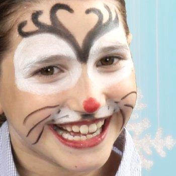 Cómo maquillar a un niño de reno de Papá Noel