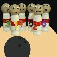 Juego de bolos de reciclaje. Manualidades para niños