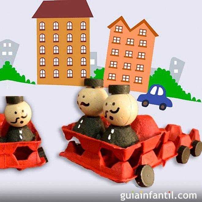 Cami n de bomberos con cajas de huevos juguetes de reciclaje for Casa musica chile