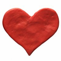 Corazón de pasta de sal. Manualidades caseras para niños