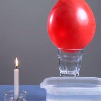 Cómo probar la fuerza de un globo. Experimento para niños