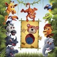 Vídeos de animales de la jungla en distintos idiomas