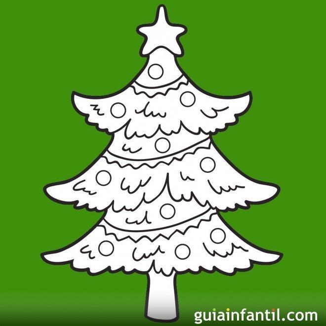 de rboles de Navidad para colorear