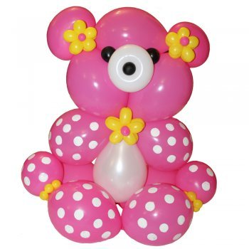 Oso con globos manualidad de globoflexia for Decoracion de globos para fiestas infantiles paso a paso