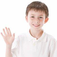 Buenos hábitos en niños. Decir hola, adiós y gracias