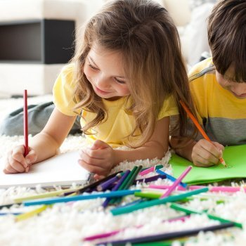 Los colores en los dibujos de los niños