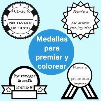 Medallas por los buenos hábitos de los niños