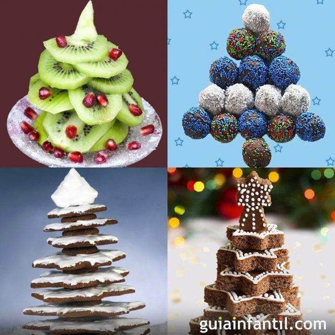 Recetas dulces con forma de árbol de Navidad
