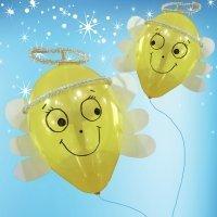Ángeles de globos. Manualidad para niños