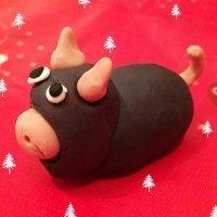 Buey de plastilina. Manualidad navideña para niños