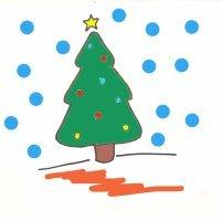 Cómo dibujar un árbol de Navidad paso a paso