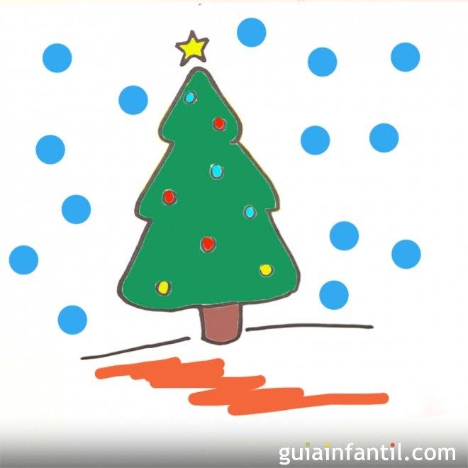 Bonitos Dibujos De Navidad A Color Faciles.Como Dibujar Un Arbol De Navidad Paso A Paso